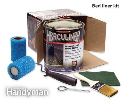 How to Brush on Bed Liner in a Pickup Truck