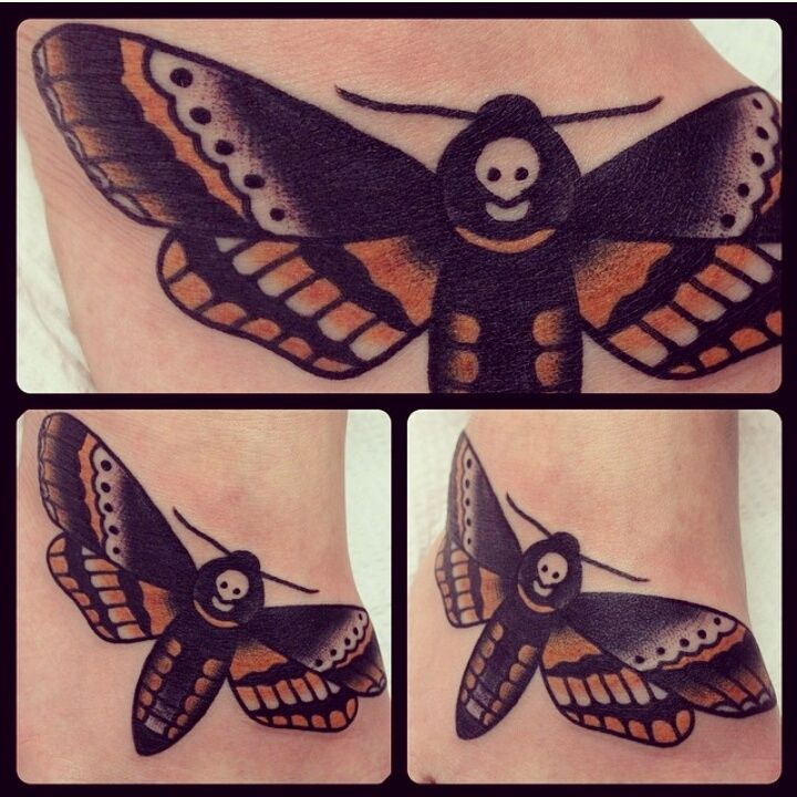 My death s head moth tattoo done by antonio roque at for Tattoo frederick md