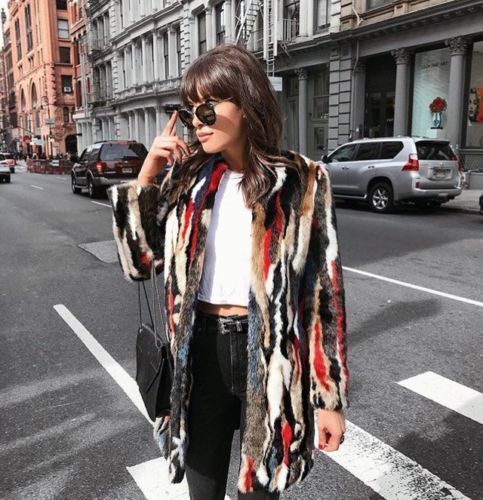 NWT ZARA 2017 Multicoloured Faux Fur Coat Size S Ref.4360/241 #ZARA #BasicCoat #Casual