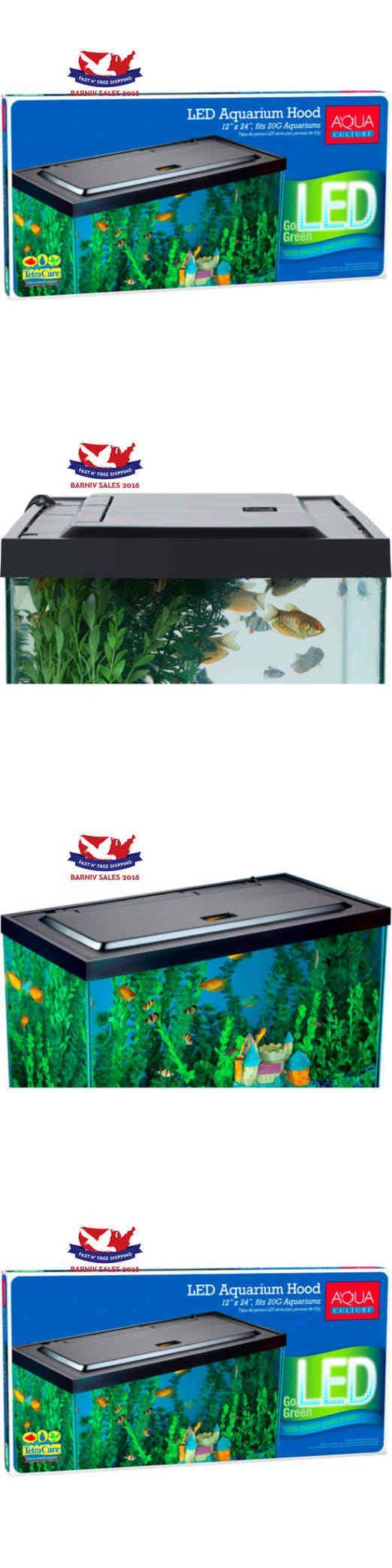 Aquariums and Tanks 20755: Genuine Aqua Culture Led Aquarium Hood For 20/55 Gallon Aquariums BUY IT NOW ONLY: $55.52