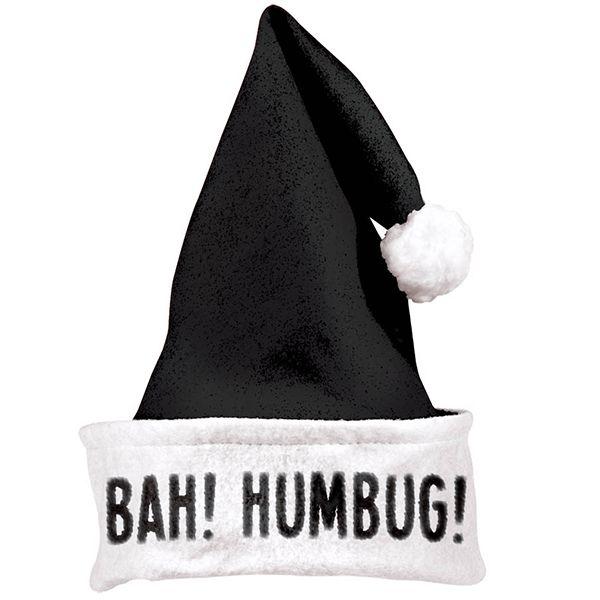 Bah Humbug Black Santa Hat. #Christmas #SantaHat