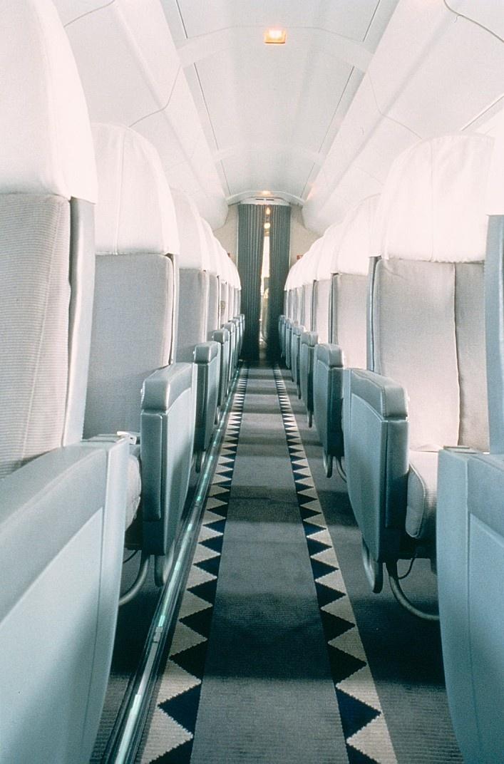 Concorde cabin by Anrée Putman