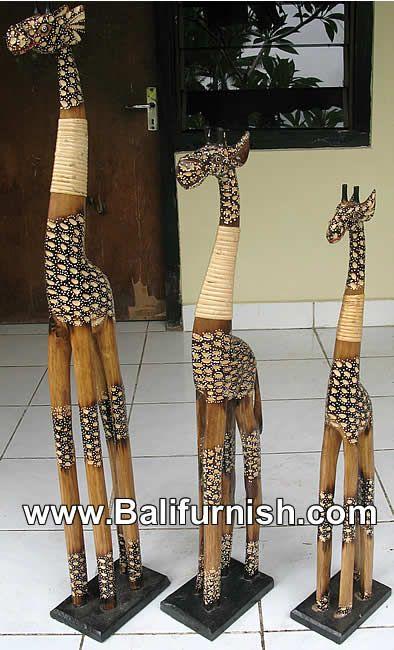 Wood Giraffe Bali Carved Wood Giraffes Indonesia Handicrafts