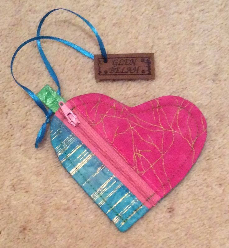 Another Heart Pouch, just love this design from Dog under my Desk.