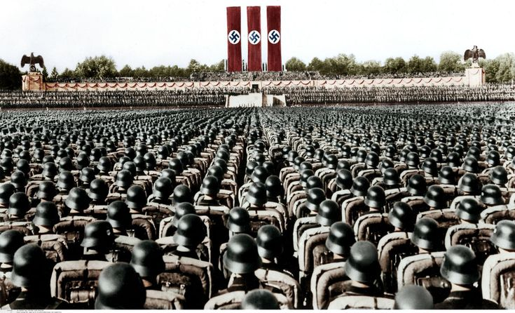 Colorized photo of the 1936 Nuremberg Rally [1200x728]