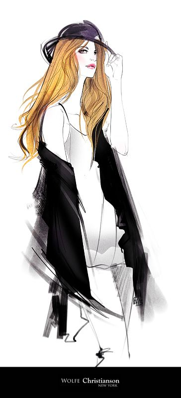 fashion illustration forWOLFIE Christiansonbeautiful, strong and feminine.