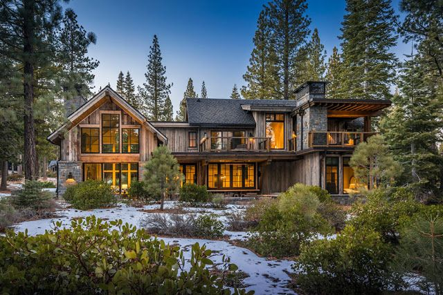 Beautiful Mountain Home In California Http Www Beautiful Houses Net 2017 12 Mountain Beautifu Mountain Home Exterior Contemporary Cabin Modern Mountain Home