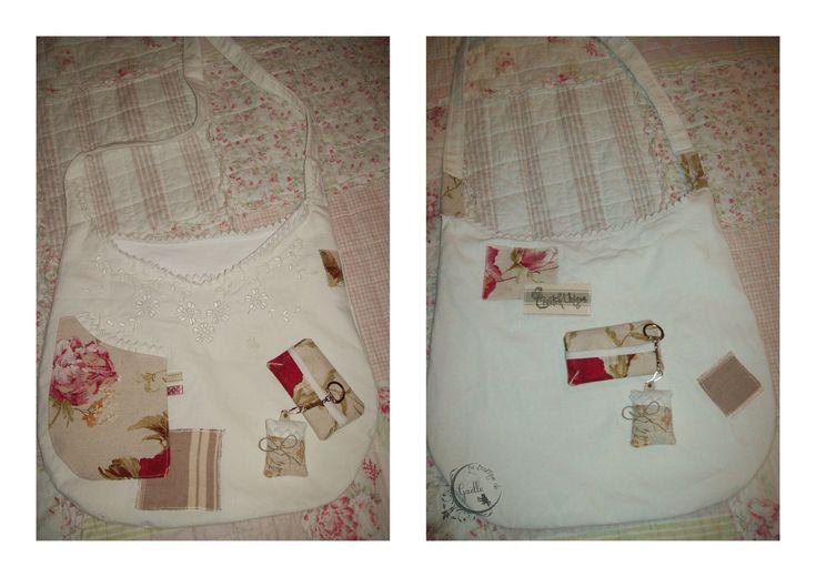 Besace à partir d'une chemise ancienne ( modèle 3)