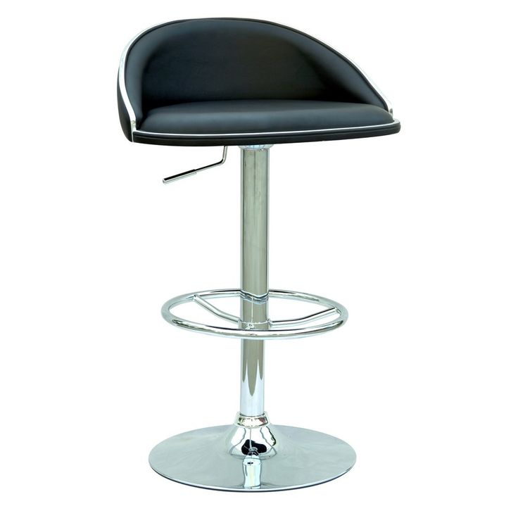 Product Description:  * Brand New * Modern Stylish Bar Stool Chairs. * PU Leather Seat Covering.  * With back rests. * Height Adjustable.