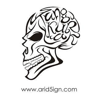 My Work - Proses Desain Vector Tangkurak | arid5ign™ | My Work, Tutorial Desain Grafis | Adobe Photoshop, Illustrator, CorelDraw