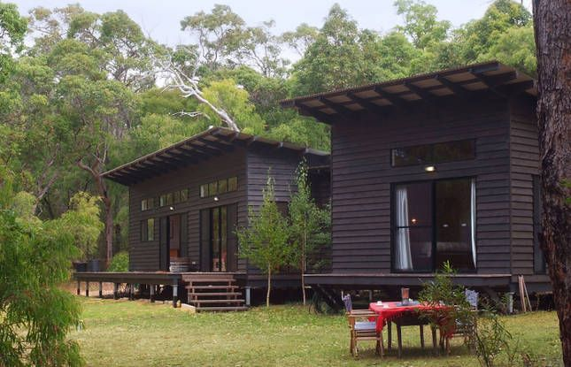 Black house, skillion roof