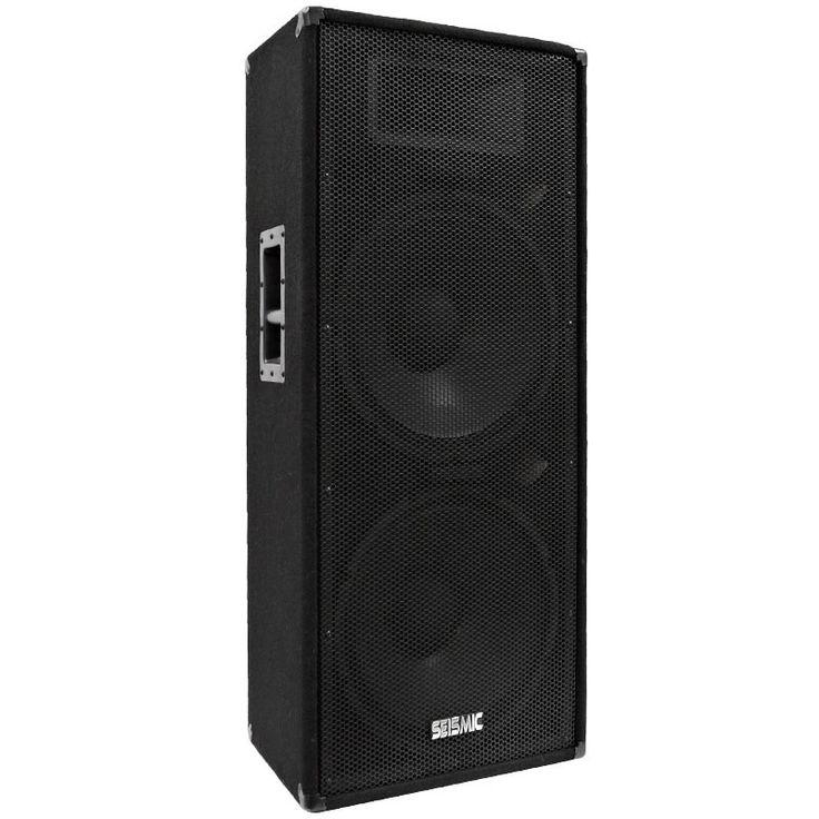 """FL-155P - Dual Premium 15"""" PA/DJ Speaker Cabinets with Titanium Horn"""