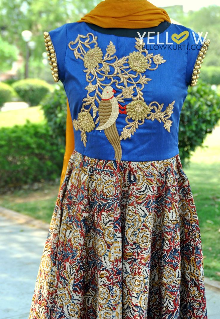 Customised Kalamkari Anarkali . Coming soon ! 04 April 2016