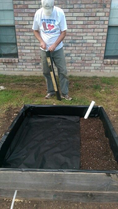 Cover perforated drain pipe with potting mix (not soil) cover mix with landscaping cloth.