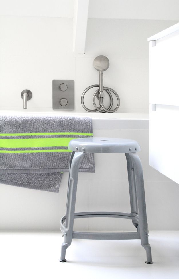 grey stoolfor the bathroom by HK living #CPHart50shades