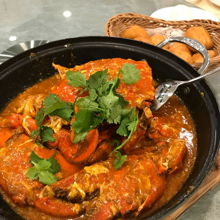 Chili Crab  a classic staple of Singaporean culinary culture #singapore #chilicrab #blackpeppercrab #jumbo #taipei #food #foodblog #foodie #seafood #crab #malay
