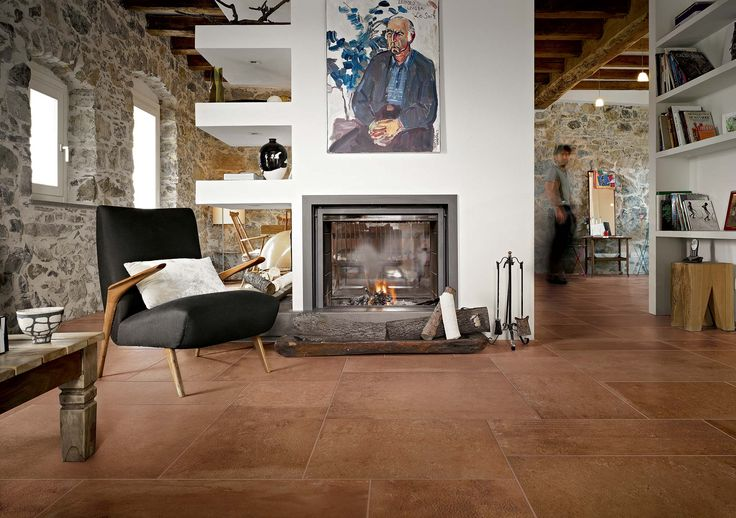 Gres fine porcellanato simil pavimento cotto in gres for Gres simil parquet