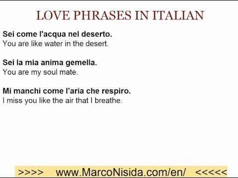Learn Italian Free - Love Phrases in Italian
