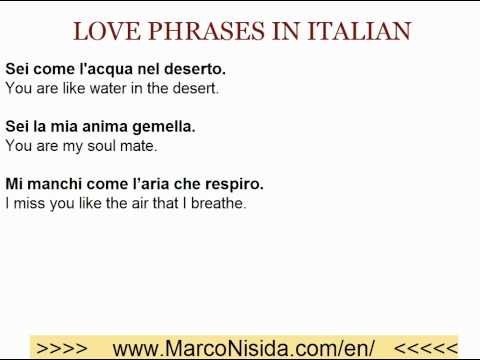 Learn Italian Free - Love Phrases in Italian