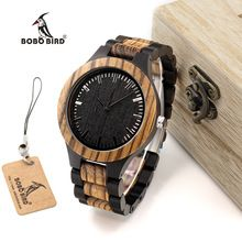 BOBO BIRD WD30 Top Brand Designer Mens Wood Watch Zabra Wooden Quartz Watches for Men Watch in Gift Box(China (Mainland))