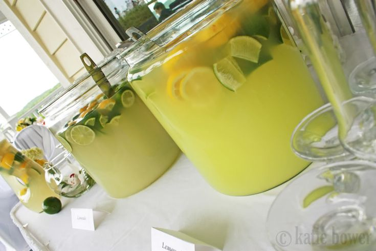 A Lemon Lime Wedding | Bower Power.  love the limeade and lemonade idea