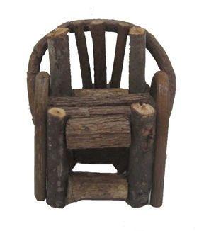 Fairy Garden Wood Twig Chair
