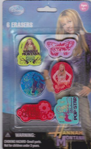 Disney Hannah Montana Erasers by Peachtree Playthings. $5.99. Erasers featuring Hannah Montana.. Collectible. Collectible erasers featuring Hannah Montana.