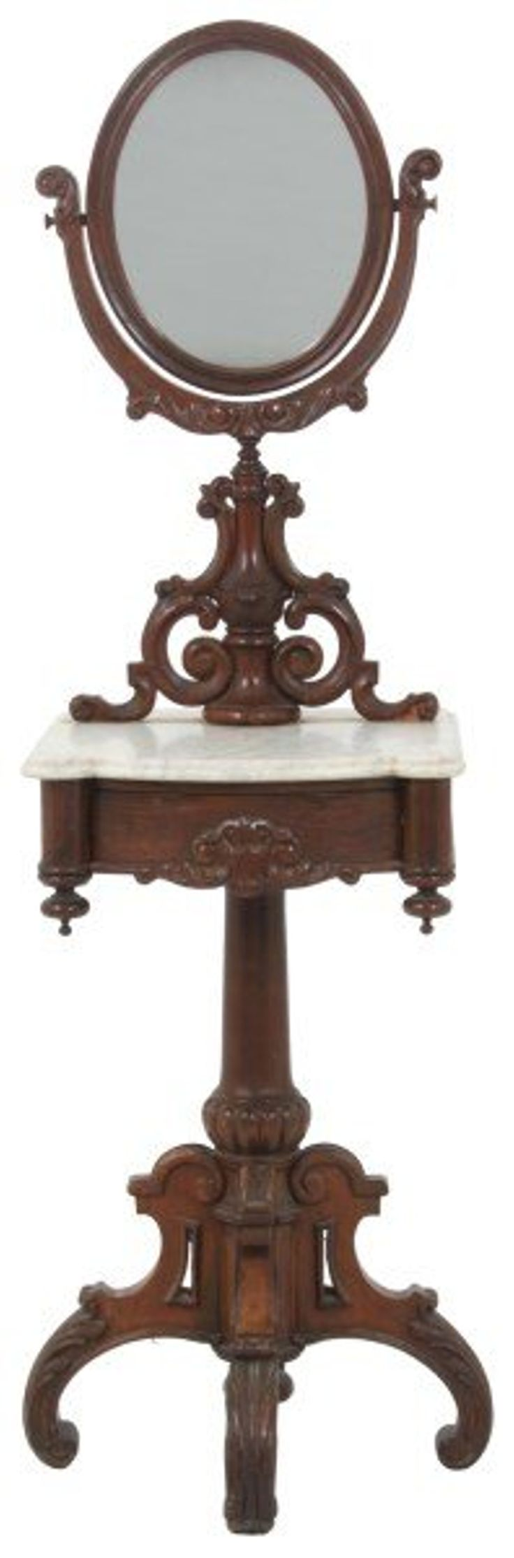 Rosewood Marble Top Shaving Stand
