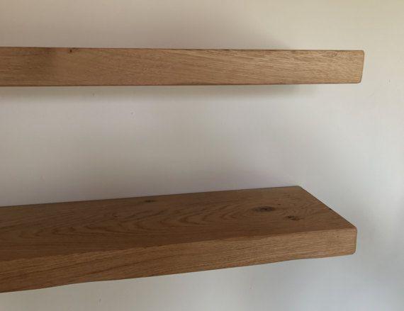 Chunky Solid Oak Floating Shelves Various Length Shelves