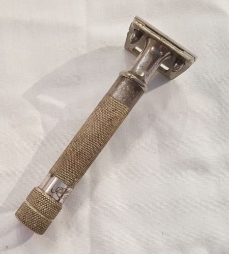 Vintage-ROTBART-Mond-Extra-Moustache-Safety-Razor-Small-head-1-034-wide-Rare-German