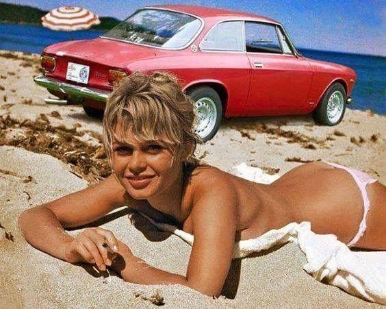 ALFA FEMALE - Brigitte Bardot and Alfa Romeo Giulia GTV
