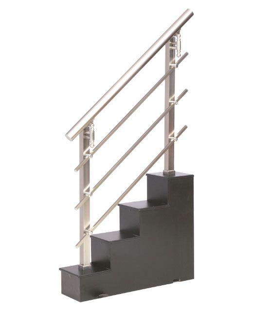 Las 25 mejores ideas sobre barandales de aluminio en for Escaleras de aluminio para interiores