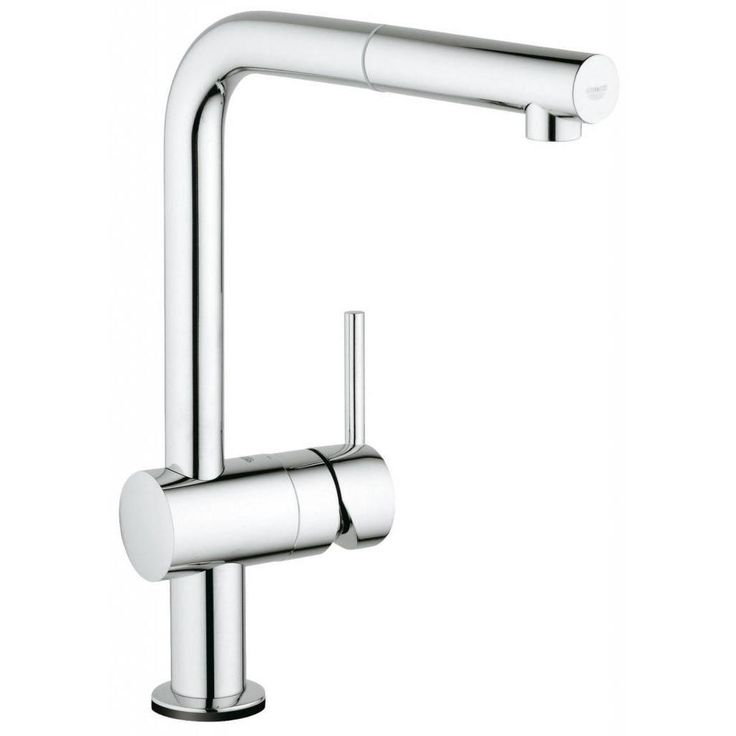 Modernize your kitchen decor with this L-Touch starlight chrome faucet. With a solid metal construction, a swivel spout and a single spray pull-out, this faucet is both sheik and functional.