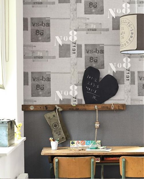 Graham & Brown Vintage Revival Wallpaper together with Dutch Design Label Stapelgoed - Industrial Home Style Wallpaper with Old Stamps & Labels! #GrahamBrown & #Stapelgoed #Wallpaper
