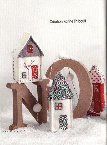 """Patrons """"Maisons de Noel"""" dans Coudre C facile de novembre/décembre"""