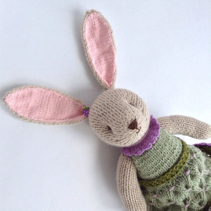 A personal favourite from my Etsy shop https://www.etsy.com/listing/531173057/knitted-bunny-rabbit-hand-knitted-toys