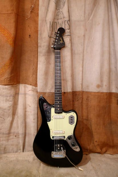 372 best fender jaguars images on pinterest music acoustic and this fender jaguar was made in the usa in it has been refinished black spray can job but well done overall the body neck pickups electronics sciox Images