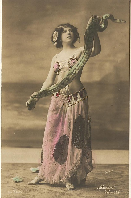 Art Nouveau python-snake lady