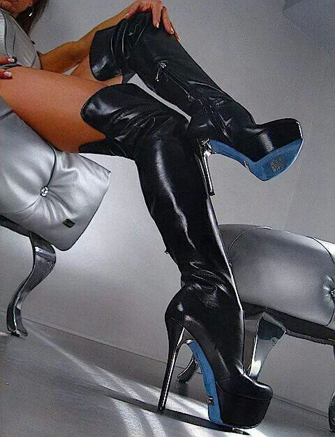 High heel boots titty suck