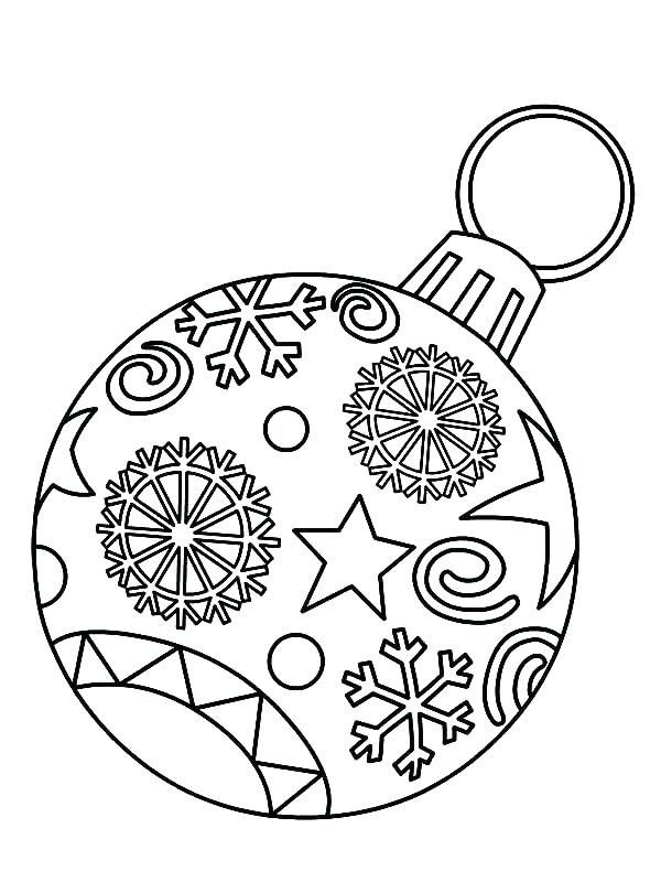 Pin By Lauren Stoker On Primary Christmas Ornament Coloring Page