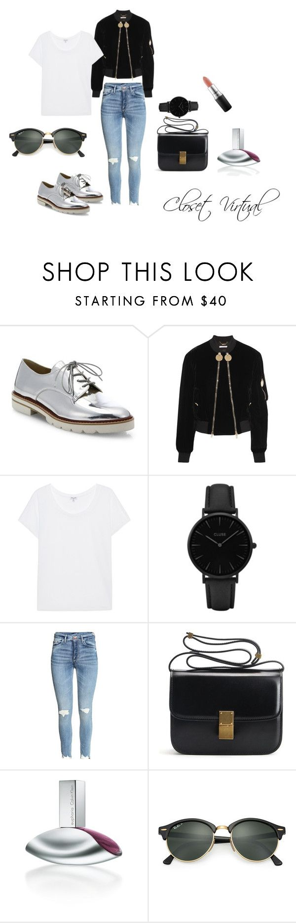 Casual every day by ednamarizete on Polyvore featuring Splendid, Givenchy, Stuart Weitzman, CLUSE, Ray-Ban, MAC Cosmetics and Calvin Klein