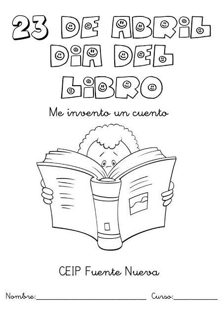 dia del libro 2 Dibujos para colorear del 23 de abril día del libro para niños