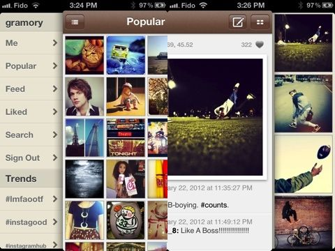 Love Instagram? Want more? Try the new Gramory app for iPhone