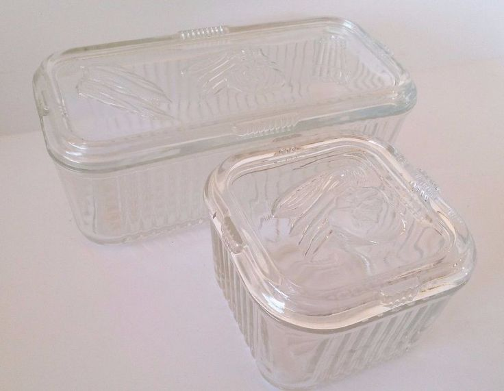 VINTAGE PYREX CLEAR GLASS REFRIGERATOR LEFTOVER DISHES Large & Small FAST SHIP #PYREX Check out all of these ebay names for more amazing deals: http://www.ebay.com/usr/medusamaire http://www.ebay.com/usr/maire1968