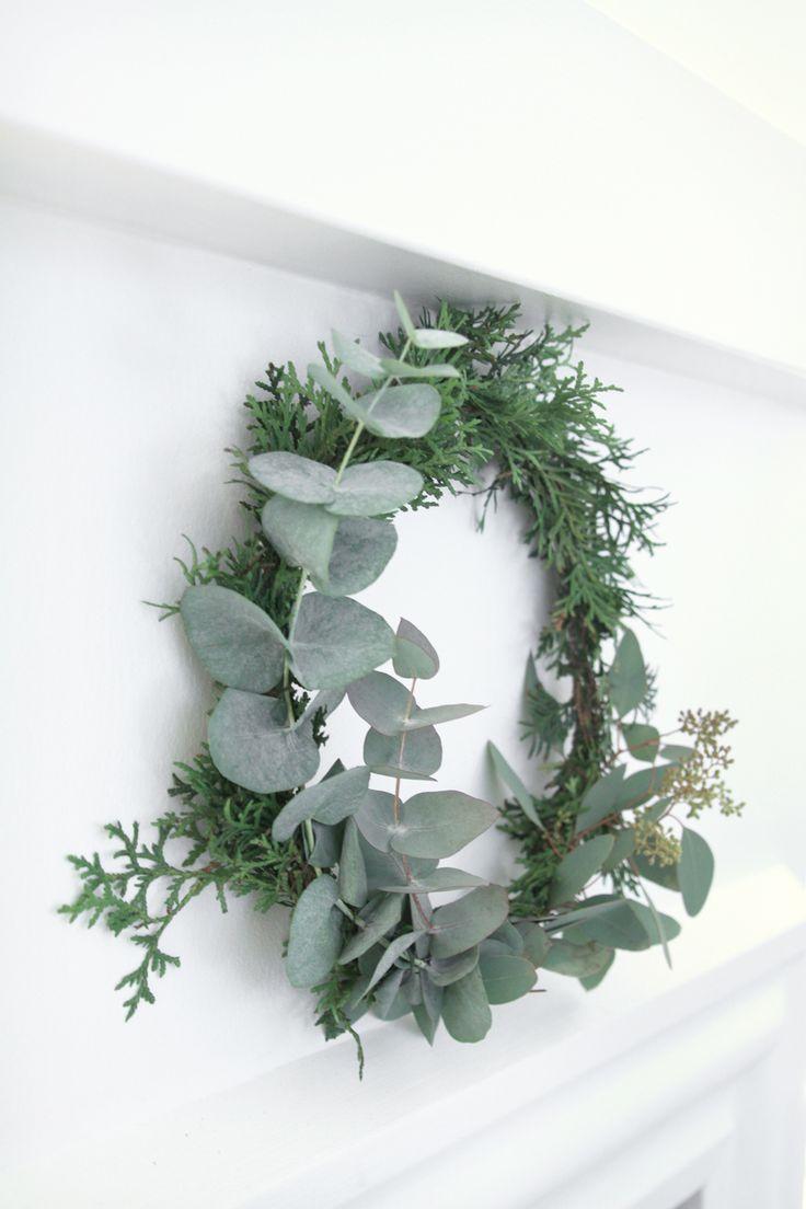 Christmas wreath, joulukranssi, eukalyptus, eucalyptus - muotoseikka