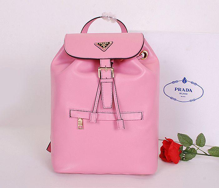 2014 Cheap Prada SOFT CALF LEATHER BACKPACK in pink,Prada backpack ...