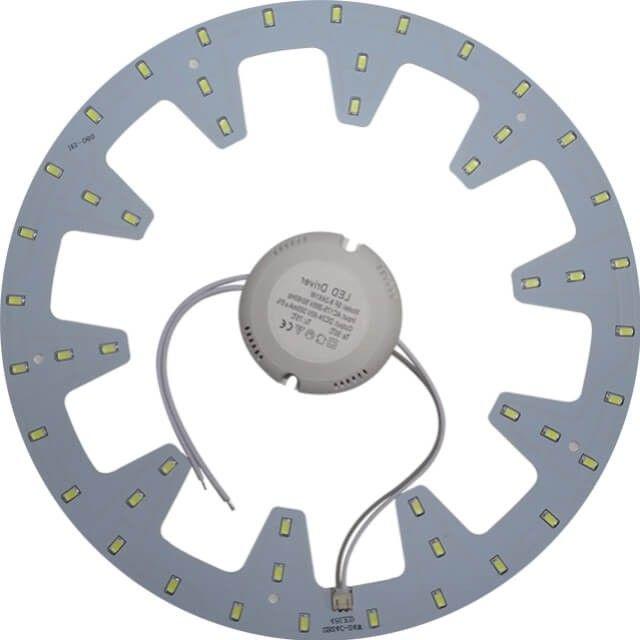 Special creata pentru a fi montata in interiorul unei aplice sau plafoniere cu diametrul mai mare de 28 cm, acest MODUL APLICA LED 24W este disponibil cu lumina alb rece sau cu alb cald.