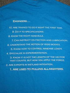 "Buy one of these hilarious ""Top 10 Reasons to Date an Engineer"" Tshirts and support Pitt-EWB!"