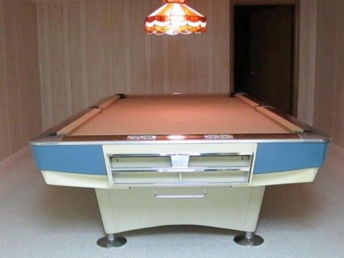 Vintage 1970 Brunswick Gold Crown 9 Ft Foot Billiard Table