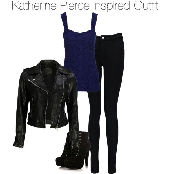 Katherine Pierce Inspired Outfit by staystronng on Polyvore featuring Jane Norman, VIPARO, Boohoo, tvd and KatherinePierce